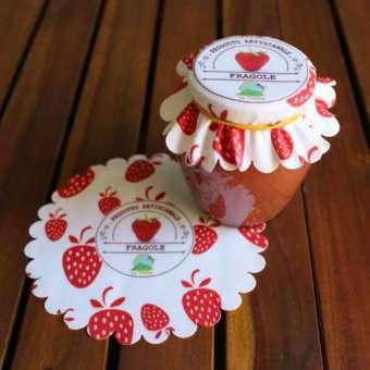 copri vasetto confettura fragole artigianale
