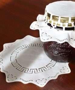 copri vasetti stoffa vasi vetro bormioli quattro stagioni