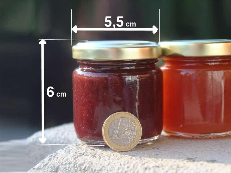 Populaire Vasetti Marmellate da circa 100 grammi. Produzione Vendita. Bomboniere OF52