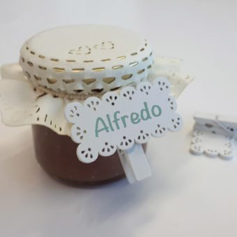 cartellino etichetta bianco legno bomboniere segnaposto molletta