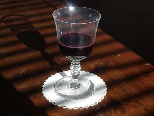 sotto bottiglia bicchiere in stoffa